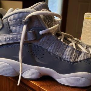 New Nike Jordan's Retro 6 Rings Grey size 6.5 boys